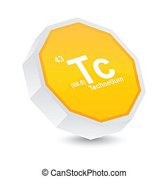 Technetium button