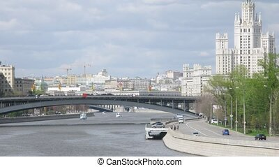 Stalin skyscraper stands on Kotelnicheskaya Embankment near...