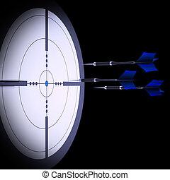 tir arc, cible, techniques, projection, flèches, viser