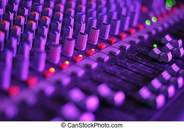 Music mixer - View of music mixer in concert, filled with...