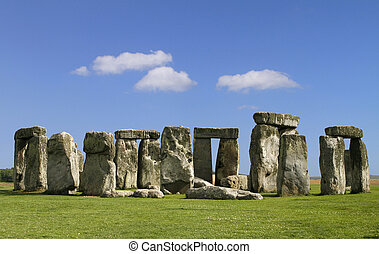 The Stonehenge - The famous and mysterious Stonehenge in...