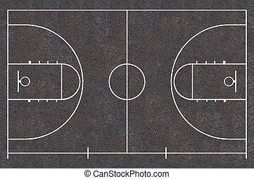 Street basketball court - Basketball court for planning adn...