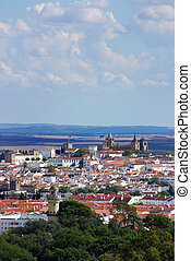 Landscape of Evora - Landscape of old city in Portugal,...