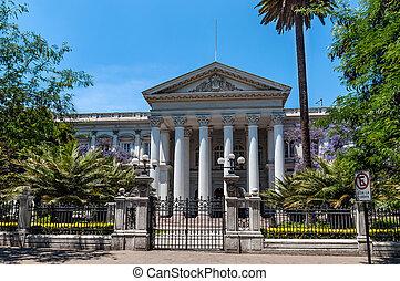 dawny, krajowy, Kongres, gmach, Santiago, od, Chile