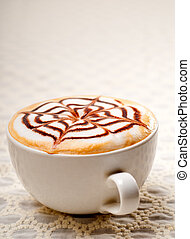 cappuccino cup - classic Italian cappuccino cup with topping...