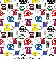 Ilustración, diferente, tipos, teléfonos