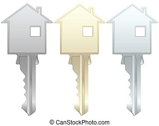 house key - House key on a white background. Vector...