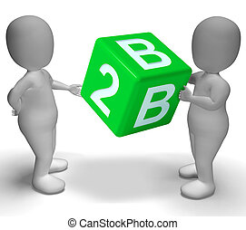 B2b Dice As A Sign Of Business - B2b Green Dice As A Sign Of...