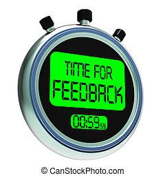 Time For feedback Means Opinion Evaluation And Surveys -...