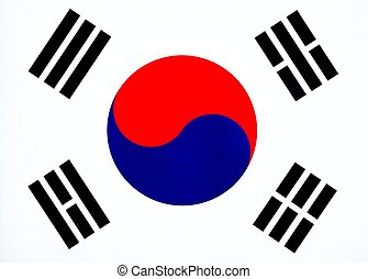 South Korean Flag - Image of South Korean Flag