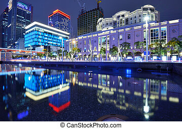 Taipei Cityscape - The cityscape of Xinyi District in...