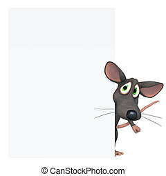 Mouse with blank board