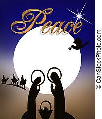 Christmas Nativity Scene - Christmas Abstract Nativity scene...