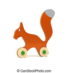 Brown squirrel - wooden toy