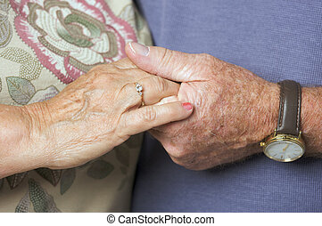 Senior Couple\\\'s Hands
