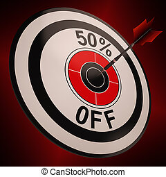 50 Percent Off Shows Markdown Bargain Advertisement - 50...