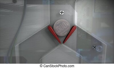 Coin machine 3d animation