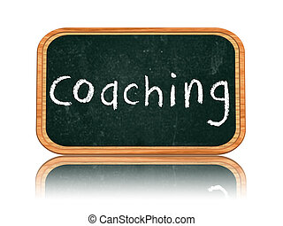 coaching on blackboard banner