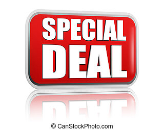 special deal red banner - special deal button - 3d red...
