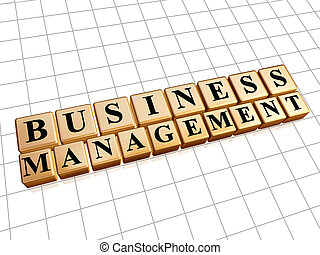 business management in golden cubes - business management -...