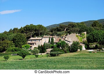 Stone houses in countryside