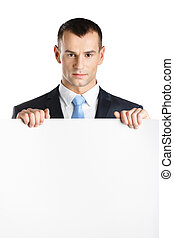 Manager hands white paper copyspace