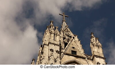 Basilica of the national vow, Quito - Bell towers of the...