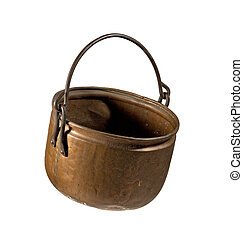 Old Copper Kettle - An old used copper kettle from the 19th...