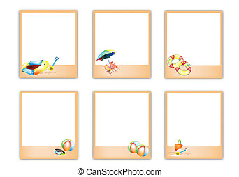 Set of Blank Photos with Beach Item Pictures - A Symbol of...
