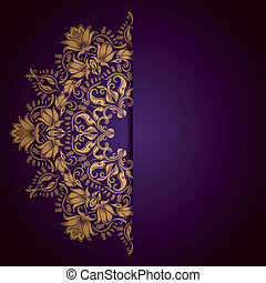 Royal background - Elegant background with lace ornament and...