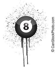 ink splatter eight ball