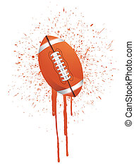 ink splatter football illustration design over white