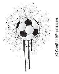 ink splatter soccer ball