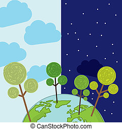 arbor day over blue background. vector illustration