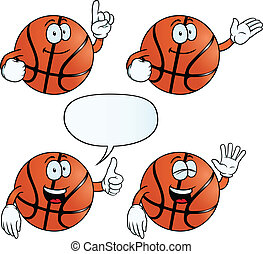 Smiling basketball set - Collection of smiling basketballs...