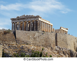 Parthenon , Aropolis of Athens Greece - Parthenon temple,...