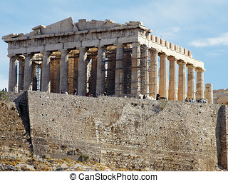 Parthenon, Aropolis of Athens Greece - Parthenon temple,...