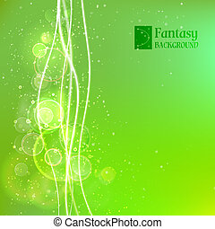 Green abstract background. Vector illustration, contains...