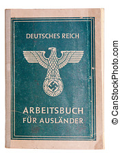 Nazi passport - Vintage fascist passport for foreign...