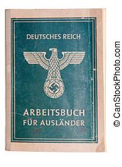 Nazi passport - Vintage fascist passport for foreign...