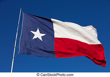 State Flag of Texas - Rippled State Flag of Texas