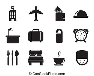 hotel icons over white background vector illustration