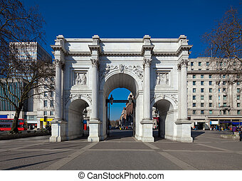 Marble Arch, London, England. Originally the front entrance...