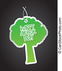 arbor day over black background. vector illustration