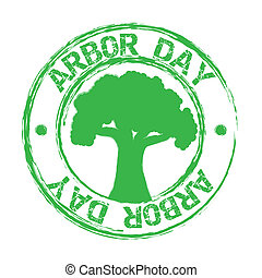 arbor day over white background. vector illustration