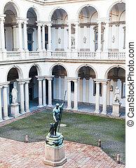 Brera University - Milan, Italy. Entrance of the famous...