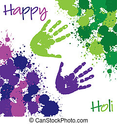 Happy Holi - Happy Holi Hindu Festical of Colours card in...