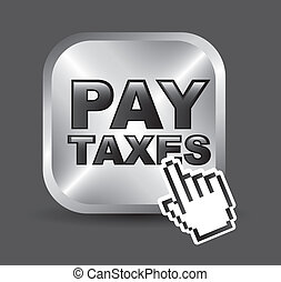 tax icon - taxi icon over gray background vector...