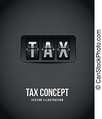tax icon over gray background vector illustration
