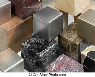 various cubes - lots of various cubes made of different...